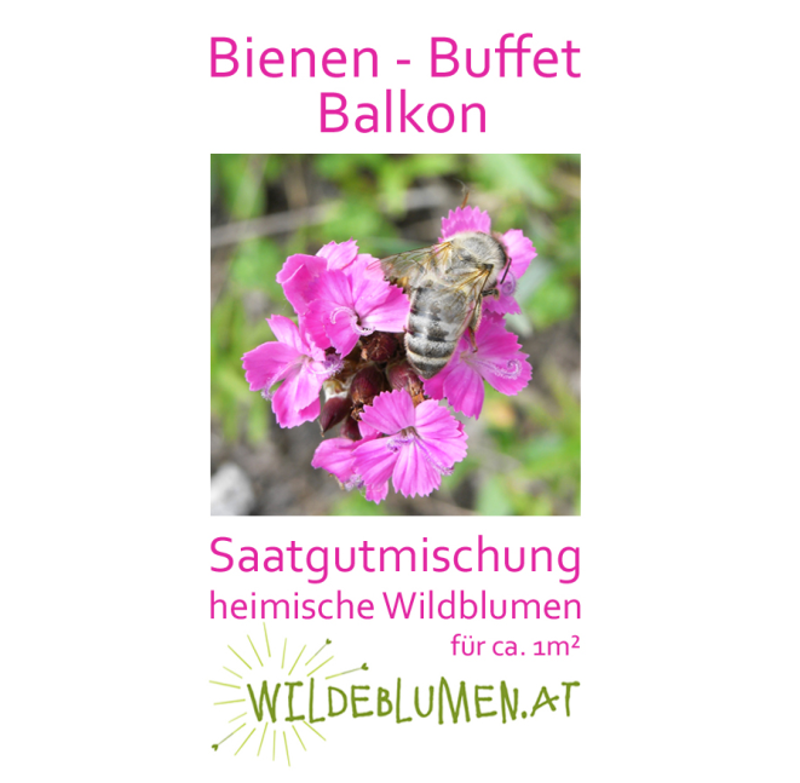 saatgutmischung bienen buffet balkon wilde blumen. Black Bedroom Furniture Sets. Home Design Ideas